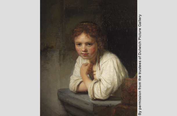 Dulwich Picture Gallery:レンブラント「窓辺の少女」